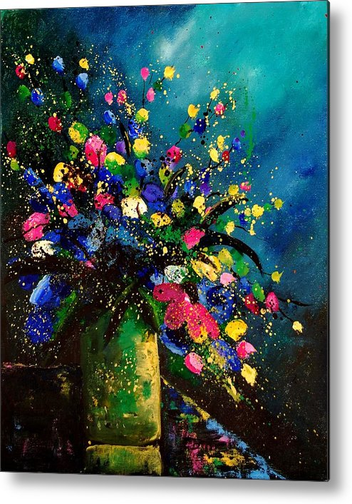 Poppies Metal Print featuring the painting Bunch 45 by Pol Ledent
