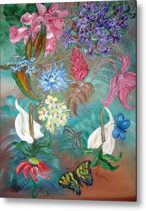 Fantasy Metal Print featuring the painting Caribbean Delight by Mikki Alhart