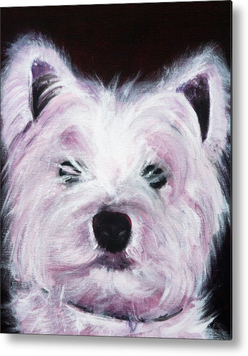 Dog Metal Print featuring the painting Cassie by Fiona Jack