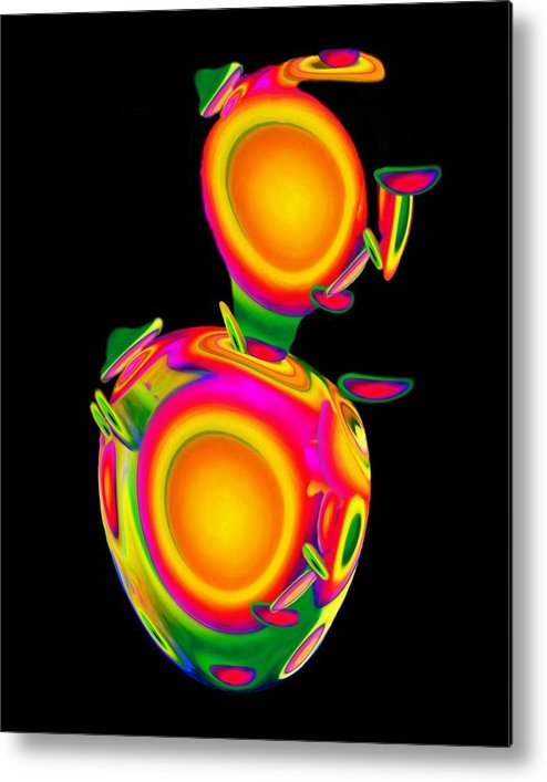 Egg Metal Print featuring the mixed media Dancing Egg Ant by Jacqueline Migell