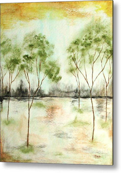 Abstract Metal Print featuring the painting Daydream by Itaya Lightbourne