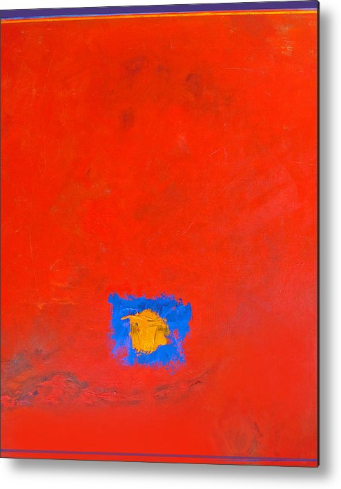 Abstract Metal Print featuring the painting Do It Yourself by Dale Witherow