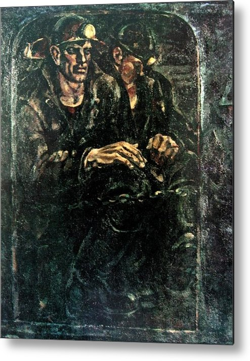 Coal-face Metal Print featuring the painting Down To The Coal-face by Ivan Filichev