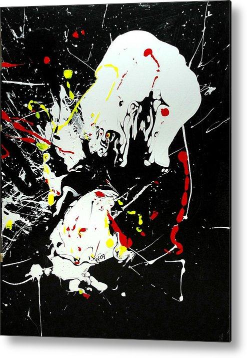 Abstract Metal Print featuring the painting Encounter 2 by Paul Freidin