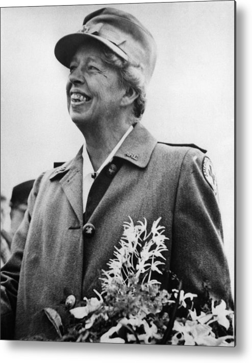1940s Metal Print featuring the photograph Fdr Presidency. Eleanor Roosevelt by Everett