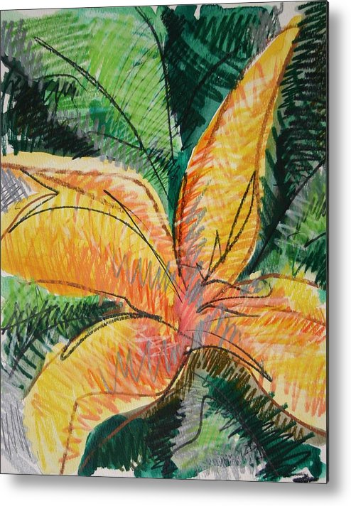 Lily Metal Print featuring the painting Flora Exotica 2 by Dodd Holsapple