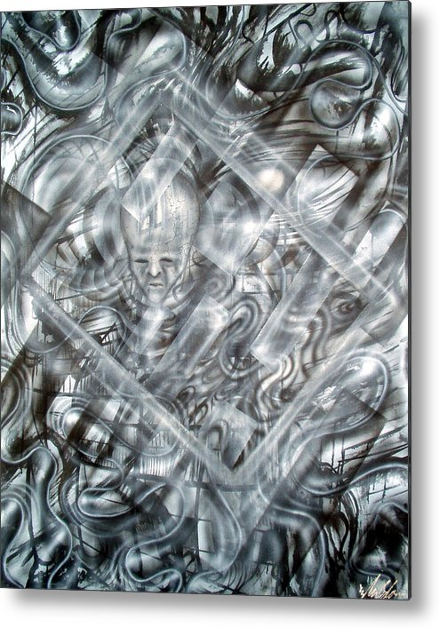 Alien Metal Print featuring the painting Genius by Leigh Odom
