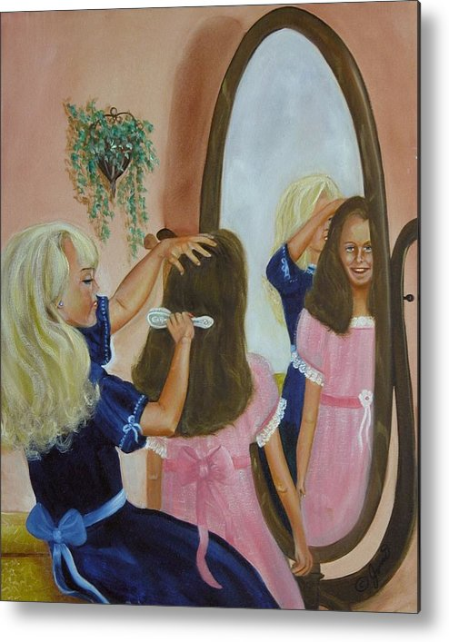 Children Metal Print featuring the painting Getting Ready by Joni McPherson
