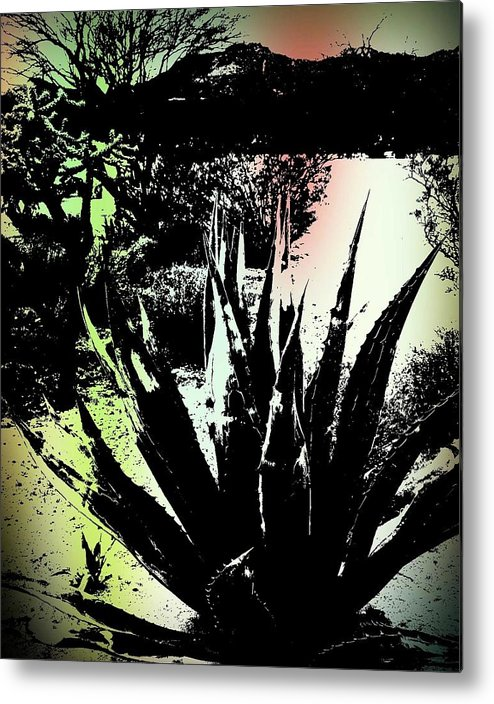 Plant Metal Print featuring the photograph Giant Agave by Regina Arnold