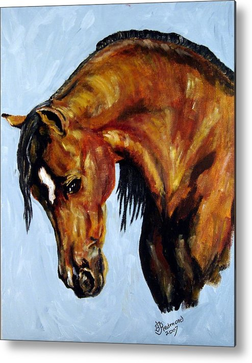 Arabian Horse Painting Metal Print featuring the painting Graceful Arabian by BJ Redmond
