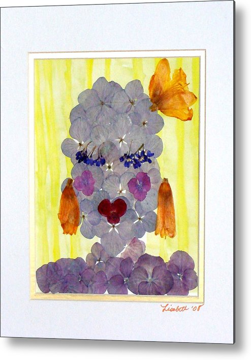 Everything Metal Print featuring the mixed media Hello Darling by Lisabeth Billingsley
