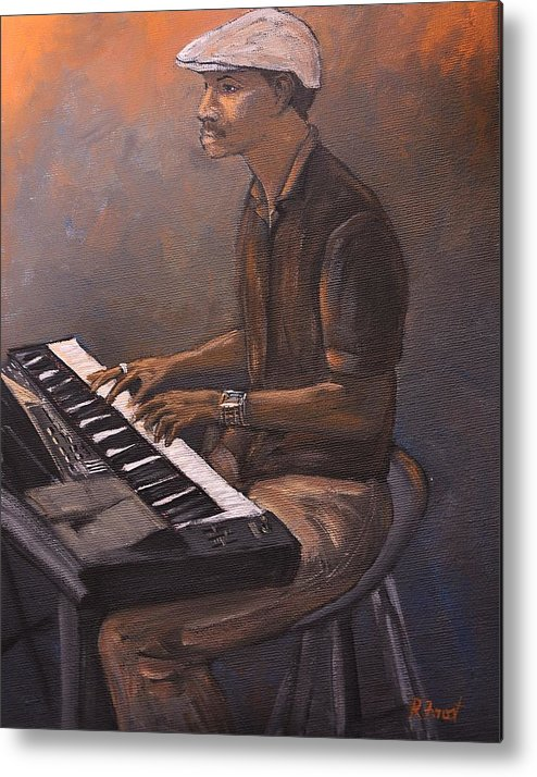 Jazz Metal Print featuring the painting Jazz by Reb Frost
