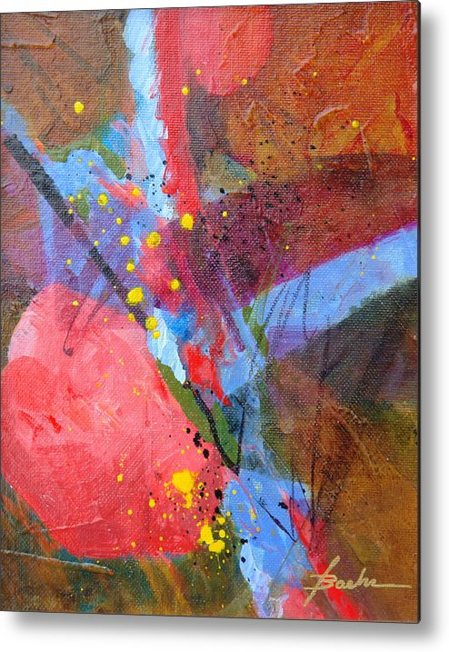 Abstract Metal Print featuring the painting Juiced Up by Marie Baehr