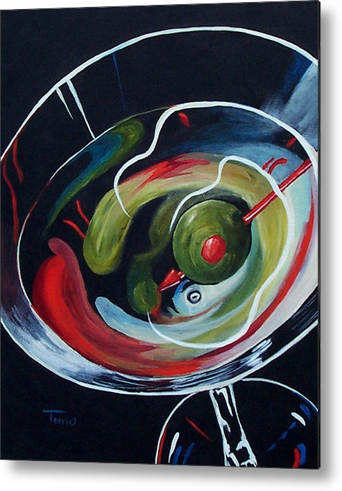 Martini Metal Print featuring the painting Martini - Stirred Iv by Torrie Smiley