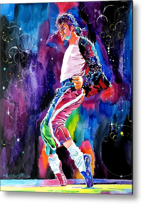 Michael Jackson Metal Print featuring the painting Michael Jackson Dance by David Lloyd Glover