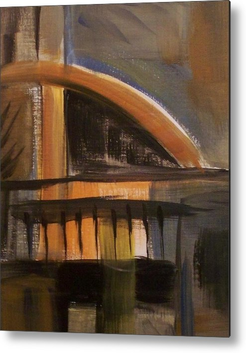 Abstract Metal Print featuring the painting Modern Architecure 2 by Anita Burgermeister