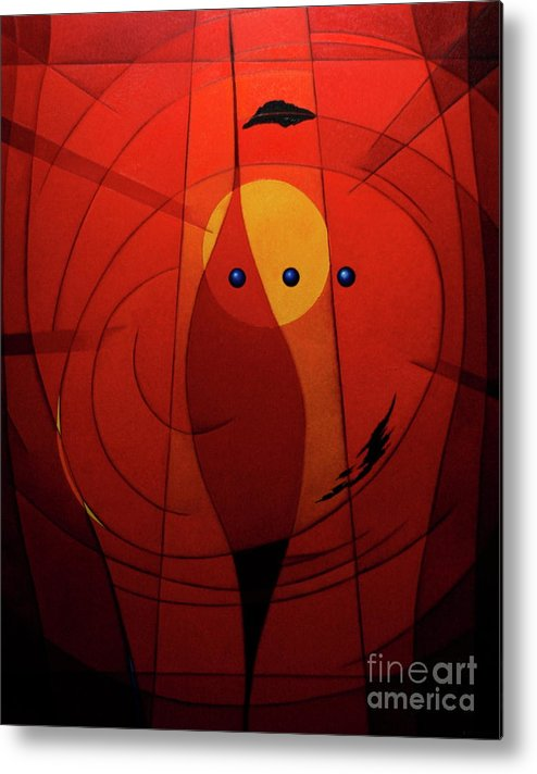 #geometric Metal Print featuring the painting Mystical Composition by Alberto DAssumpcao