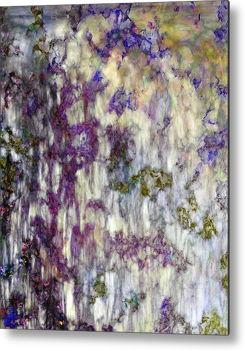 Abstract Metal Print featuring the digital art Petals In A Rainstorm by Gae Helton