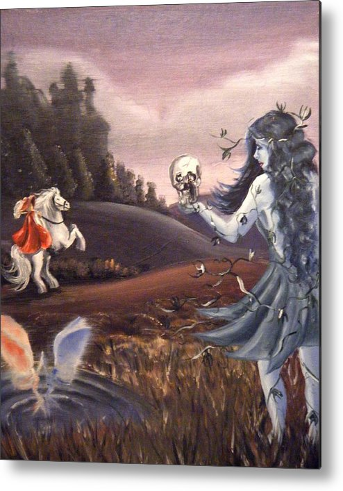 Fairies Metal Print featuring the painting Poison Ivy by Scarlett Royal