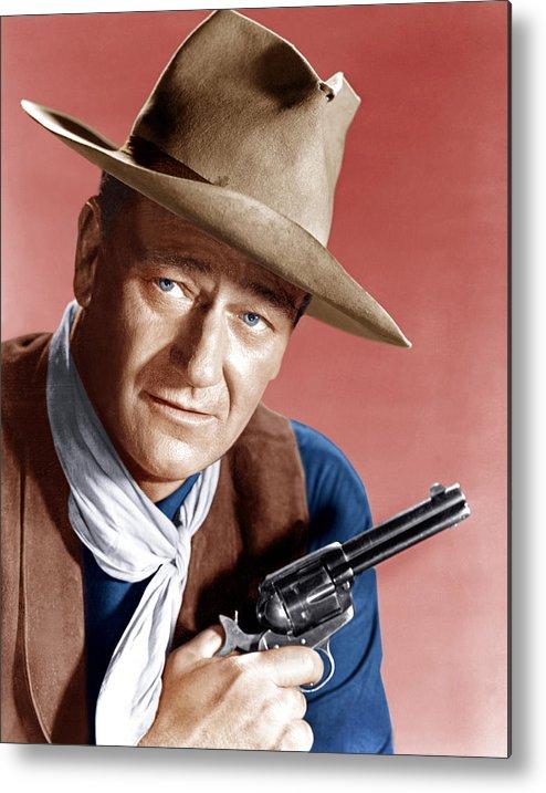 1950s Portraits Metal Print featuring the photograph Rio Bravo, John Wayne, 1959 by Everett