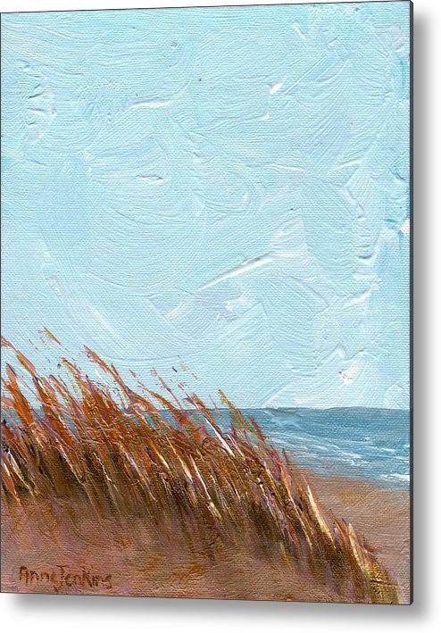 Georgia Metal Print featuring the painting Sea Grass On Tybee Island by Anne Jenkins