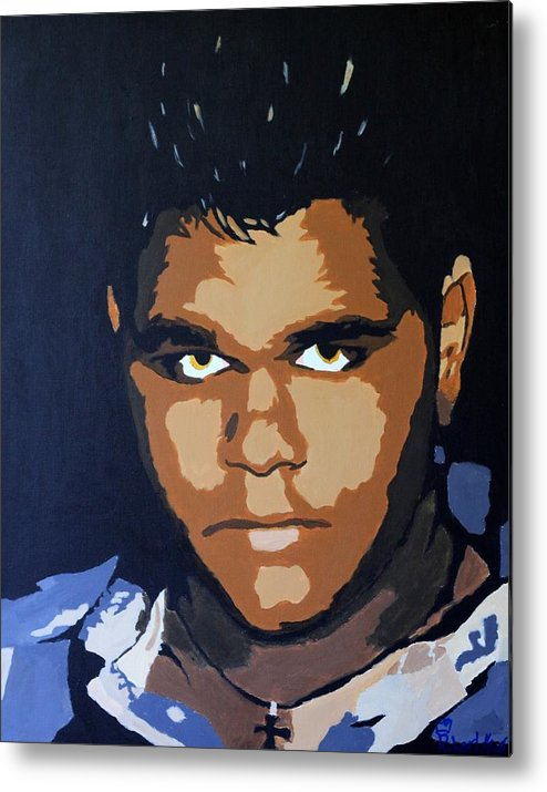 Robert Metal Print featuring the painting Self Portrait by Roger And Michele Hodgson