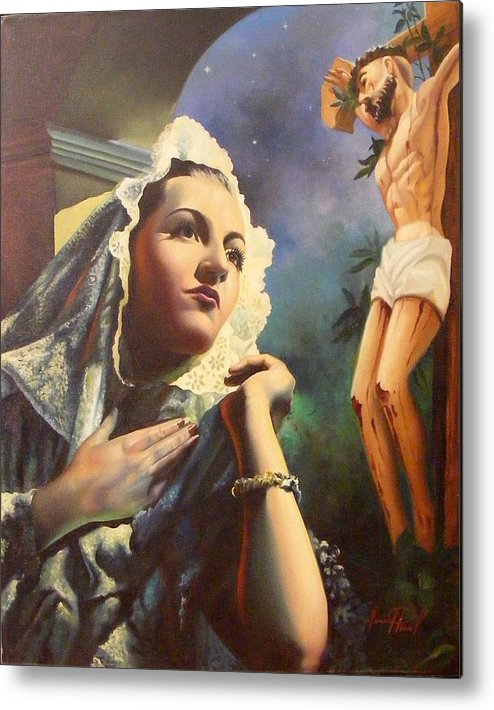 Devotional Metal Print featuring the painting Siempre Fiel by Pina