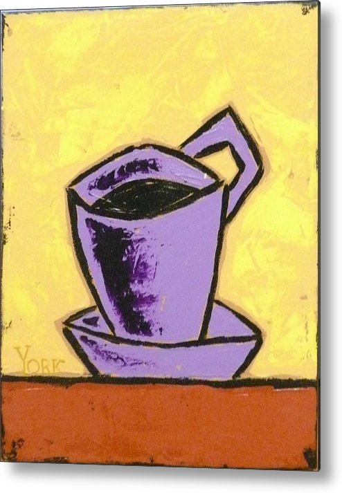 Coffee Metal Print featuring the painting Solo Coffee IIi by Ron York