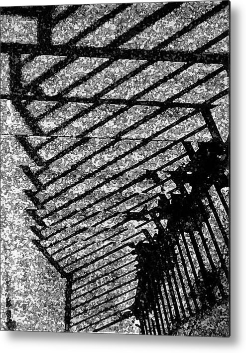 Steps Railings Metal Print featuring the photograph Steps by John Bradburn