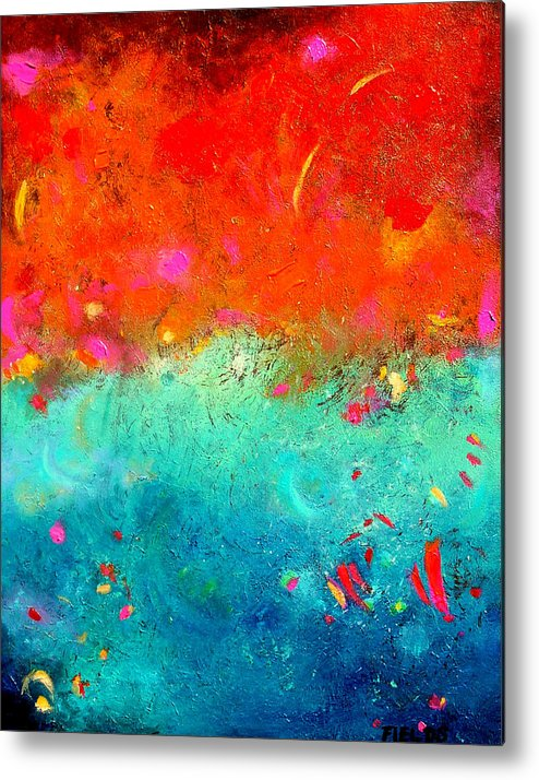 Bold Metal Print featuring the painting Summer Sky by Karen Fields