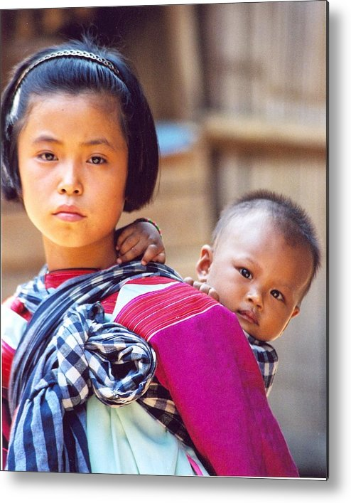 Thailand Children Metal Print featuring the photograph Thai Children by Linda Russell