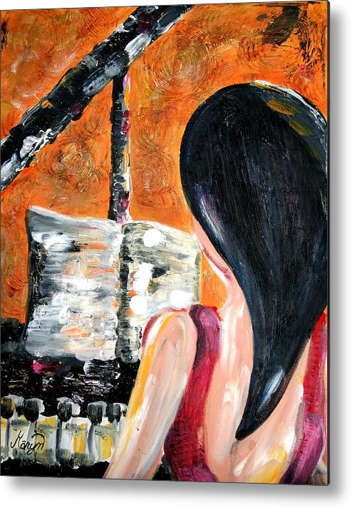 Piano Metal Print featuring the painting The Pianist by Maryn Crawford