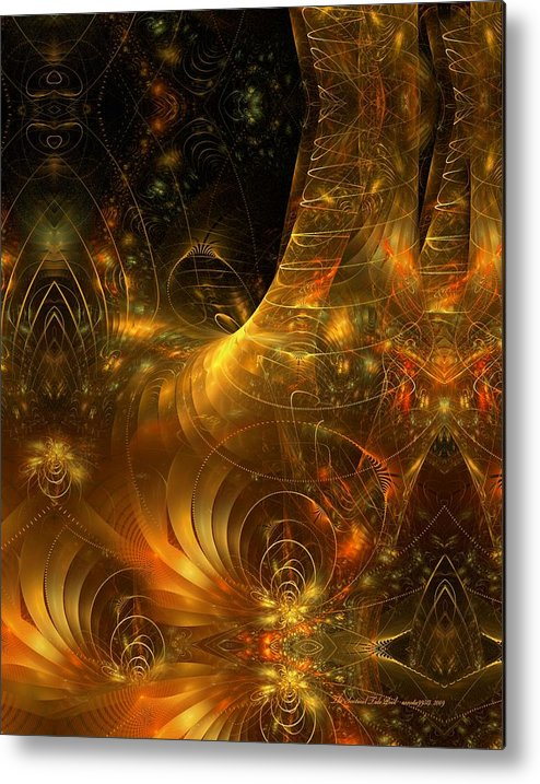 Fractal Metal Print featuring the digital art The Sentinel Tide Pool by Gayle Odsather