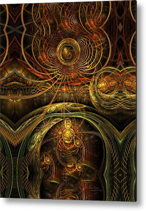 Fractal Metal Print featuring the digital art The Time Masters by Gayle Odsather