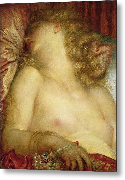 The Wife Of Plutus Metal Print featuring the painting The Wife Of Plutus by George Frederic Watts