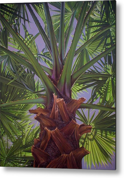Plants Metal Print featuring the painting Tropical Shadows by Laine Garrido