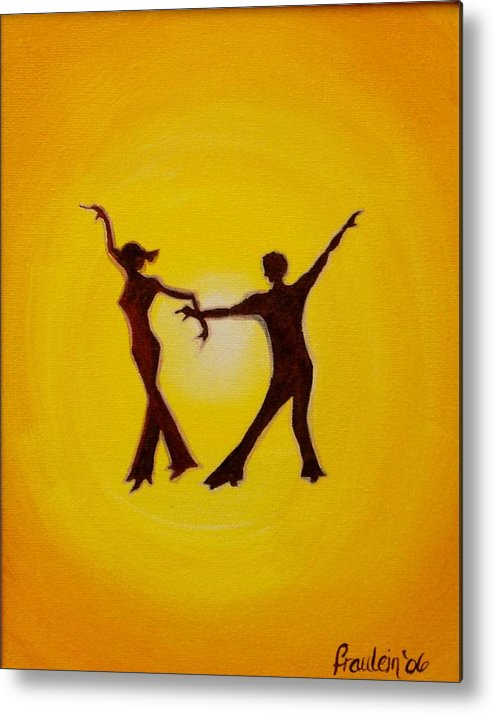 Contemporary Metal Print featuring the painting Two To Tango by Glory Fraulein Wolfe