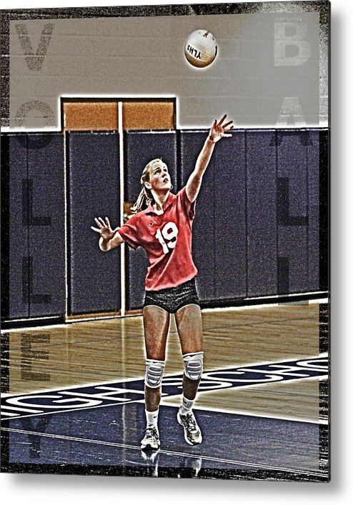 Volleyball Metal Print featuring the photograph Volleyball Girl by Kelley King