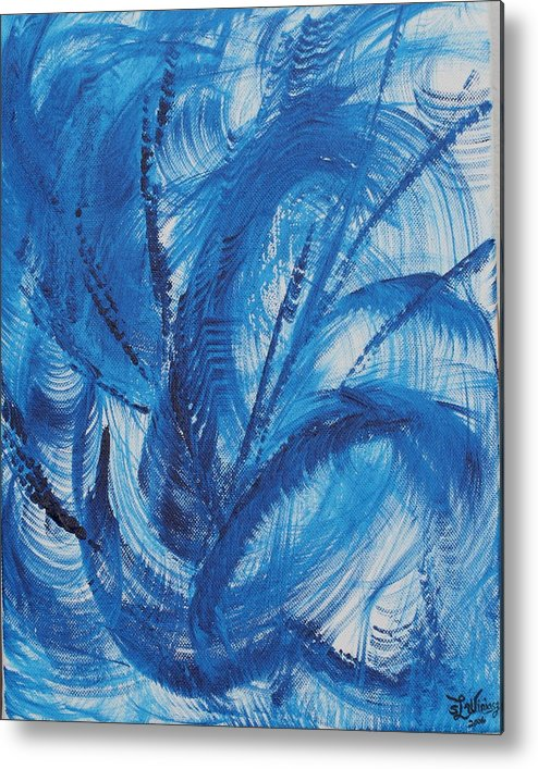 Wind Metal Print featuring the painting Wind by Sandra Winiasz