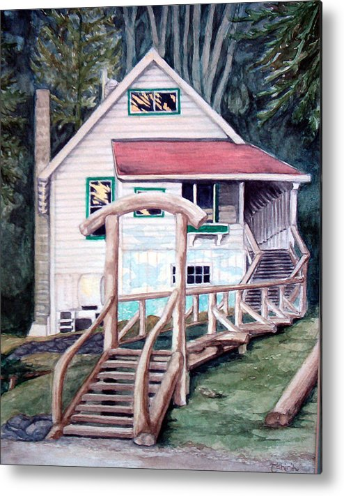 Old House Metal Print featuring the painting The Waterfront by Tahirih Goffic
