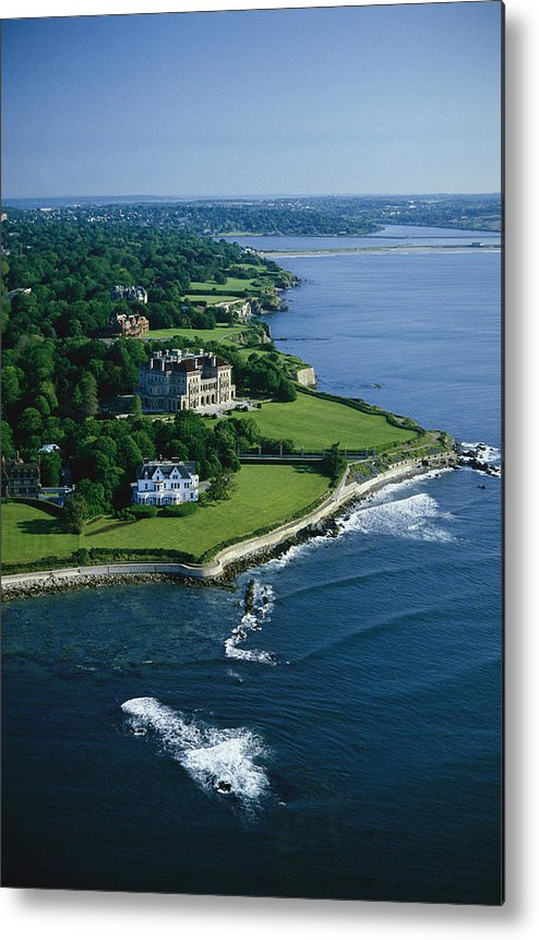 North America Metal Print featuring the photograph Aerial Of The Breakers, A Mansion Built by Ira Block