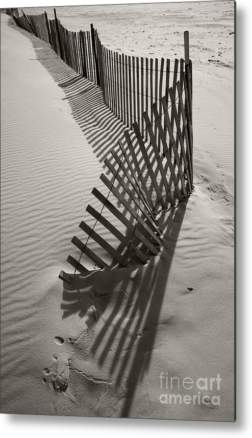 Snow Fencing Metal Print featuring the photograph Buried by Timothy Johnson