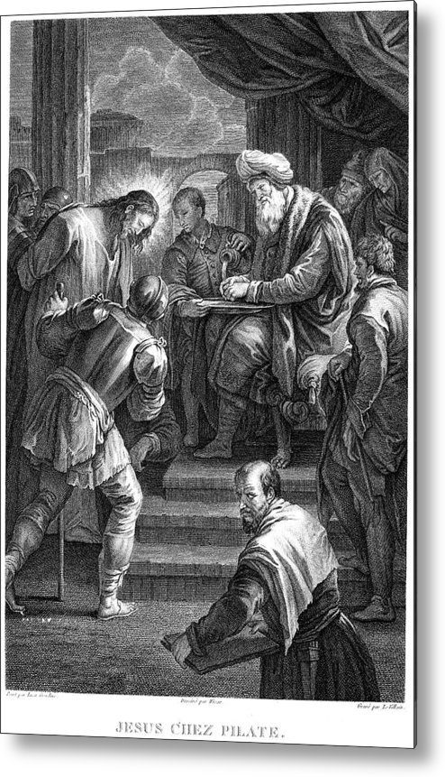 18th Century Metal Print featuring the photograph Christ Before Pilate by Granger