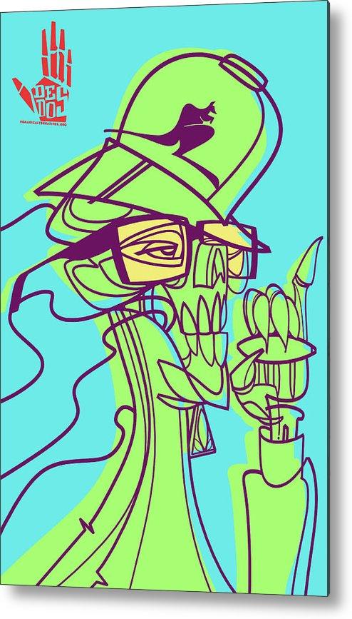 Weed Metal Print featuring the digital art Ganja Man by Nelson Dedos Garcia