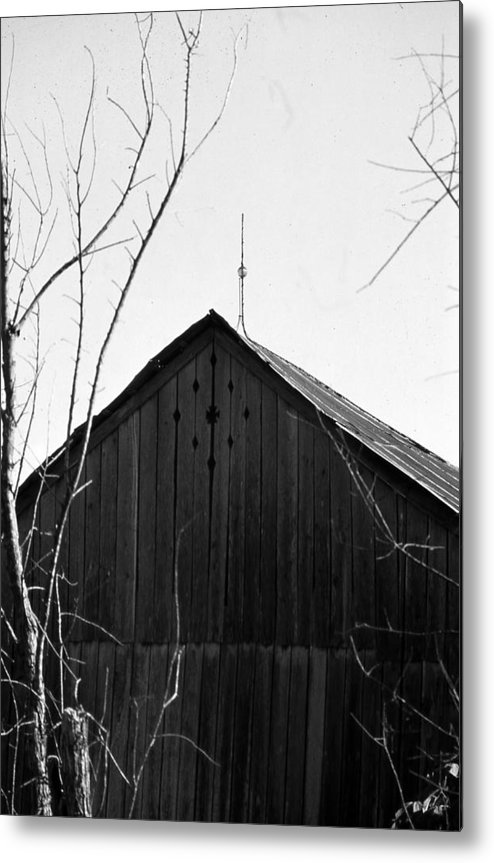 Ansel Adams Metal Print featuring the photograph lloyd-shanks-barn-1BW by Curtis J Neeley Jr