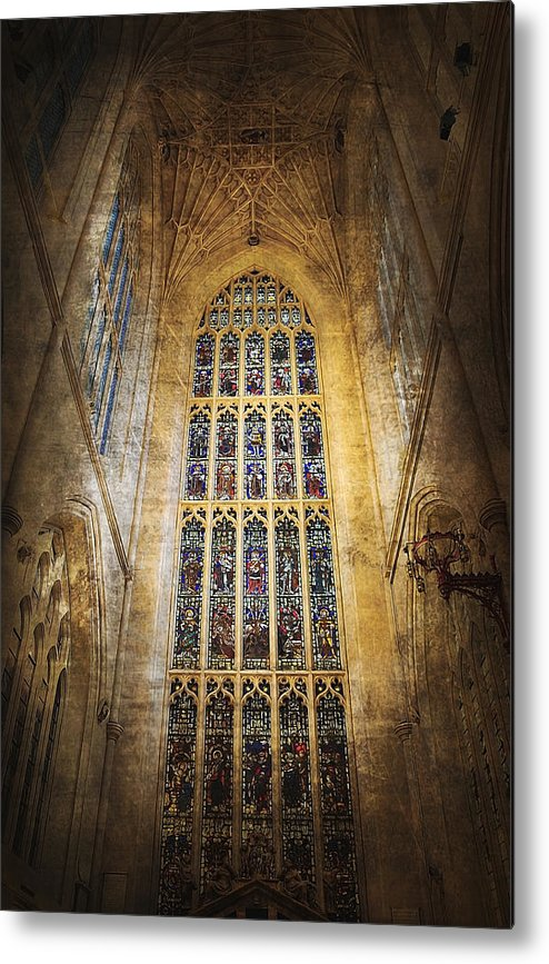 Abbey Metal Print featuring the photograph Minster Window by Svetlana Sewell