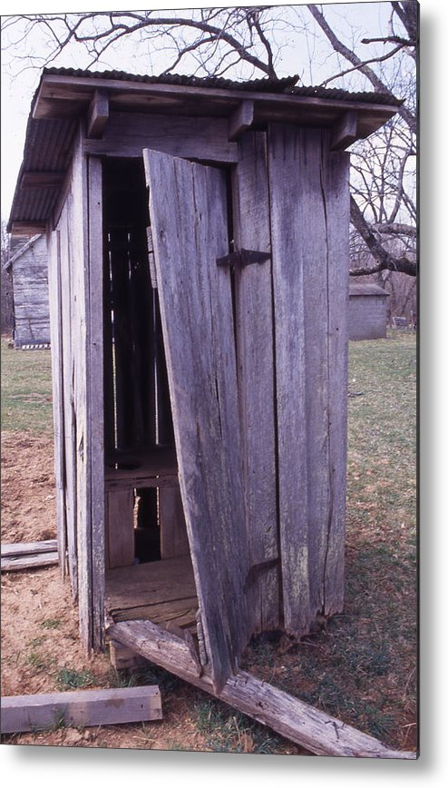 Metal Print featuring the photograph Outhouse2 by Curtis J Neeley Jr