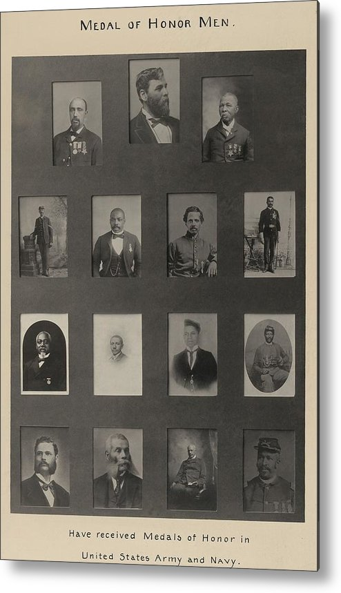 History Metal Print featuring the photograph Portraits Of 15 African American by Everett