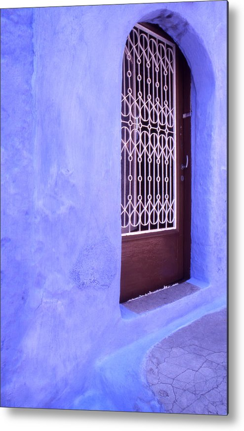 Greece Metal Print featuring the photograph Simply Blue by Steve Outram