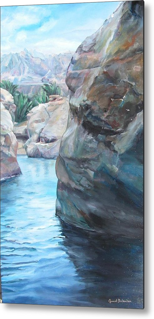 Landscape Metal Print featuring the painting Canyon by Muriel Dolemieux